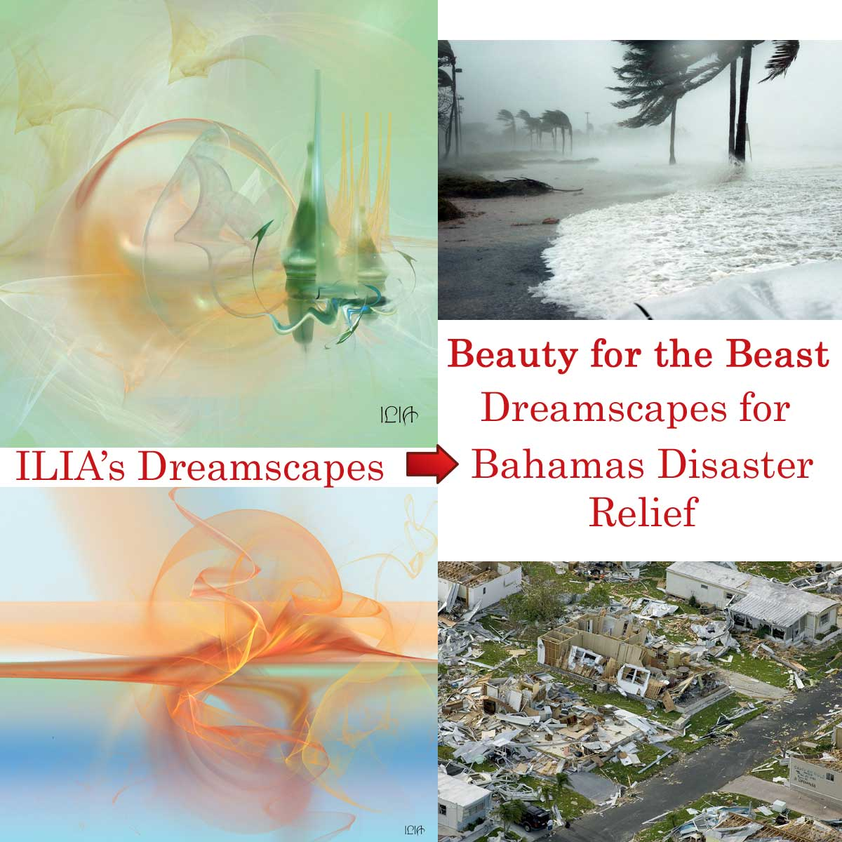 ILIA's Dreasmcapes are being used to help raise funds for the Bahamas Disaster Relief after Hurricane Dorian